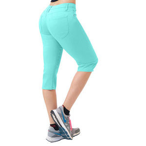 Pants - 17 inch Butt Lift Comfy Stretch Denim Mint blue